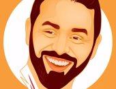 """بالصور.. قارئ يشارك """"اليوم السابع"""" لوحاته الفنية بطريقة الـ vector art"""