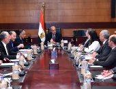 شريف إسماعيل يستعرض آليات تطوير عمل البنك الزراعى بحضور 3 وزراء