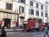 14 سيارة إطفاء تتمكن من السيطرة على حريق هائل بمسرح الليسية فى وسط البلد