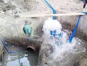 """استجابة لـ""""اليوم السابع""""..مياه الشرب تعيد فتح المياه بشارع رياض الصالحين فى الوراق"""