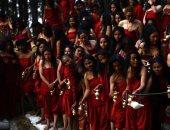 الأقليات العرقية والإثنية الصينية يحتفلون بأعياد العام الجديد التقليدية