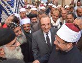 قساوسة بنى سويف يشاركون الأئمة افتتاح مسجد الشاذلى بمركز ناصر