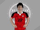 طالب يشارك بصور من تصميمه للاعبى المنتخب محمد صلاح وعمرو وردة