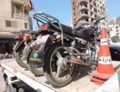 حبس عاطلين وراء عصابة سرقة الدراجات البخارية فى النزهة 4 أيام