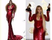 """بالفيديو الصور.. شاهد """"اسكتشات"""" تصميم فساتين بيونسيه بحفل """"Grammy"""""""