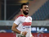 احتفالات خالدة.. باسم مرسى يتقمص شخصية رونالدو بعد هدفه فى الأهلى