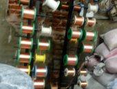 ضبط مصنع لإنتاج أسلاك الكهرباء بمواد مجهولة المصدر بالبساتين
