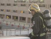 بالصور.. حريق بمبنى داخل جامعة الملك عبد العزيز بالسعودية