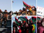 آلاف الليبيين يشاركون قوات الجيش فى إحياء الذكرى السادسة للثورة
