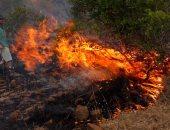 """إخلاء 4 قرى جراء إندلاع حريقى غابات بجزيرة """"إيفيا"""" فى اليونان"""