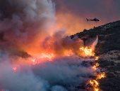 إخلاء متنزهين فى ولاية كاليفورنيا بعد حريق غابات التهم 40 فدانا من الحشائش