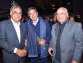 """بالصور.. الإعلامى محمود سعد يحضر العرض الخاص لفيلم """"يوم من الأيام"""""""