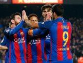 رافينيا يحرز هدف برشلونة الأول فى شباك أتلتيكو مدريد بقمة الليجا