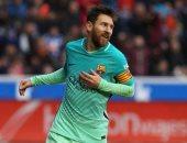 ميسي يضيف هدف برشلونة الثانى أمام أتلتيكو مدريد بقمة الليجا