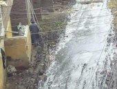 قارئ يشارك بفيدو لتراكم مياه الأمطار بمدينة فاقوس بالشرقية ويطالب بشفطها