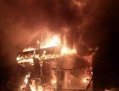 ماس كهربائى يحرق شقة بالقليوبية