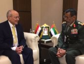 محمد العصار يلتقى رئيس أركان القوات المسلحة الإماراتى بمعرض أيدكس بأبو ظبى