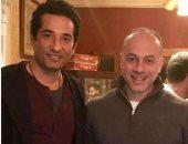 """عمرو سعد ينشر صورة مع تامر مرسى من كواليس مسلسل """"وضع أمنى"""""""
