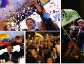 احتفالات وتظاهرات فى الإكوادر بالنتائج الأولية للانتخابات الرئاسية