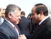 بالفيديو..بعد قليل.. قمة مصرية أردنية بين الرئيس السيسى والملك عبد الله