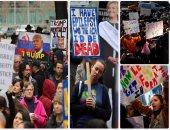 """مظاهرات فى أمريكا مناهضة لترامب.. """"دونالد ليس رئيسى"""""""
