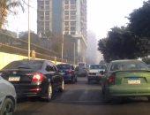 رفع حطام حادث انقلاب سيارة وأعطال أتوبيس أمام مستشفى الشرطة والأوتوستراد