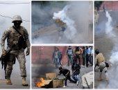 بالصور.. اشتباكات عنيفة بين الشرطة البوليفية وزارعى نبات الكوكا بلاباز