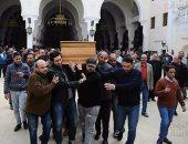 نجوم الفن يشيعون جنازة صلاح رشوان من مسجد الصديق بمساكن شيراتون