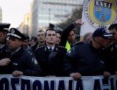 بالصور.. تظاهرات لفرق الإطفاء فى اليونان احتجاجا على حذف بدل الأعمال الخطيرة