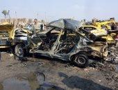 قارئ يشكو تكرار حوادث الطرق أمام بوابة جامعة الأزهر بسبب سرعة السيارات
