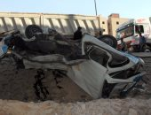 إصابة 14 شخصاً فى انقلاب سيارة على الطريق الزراعى بالمنيا