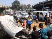 مصرع شخص وإصابة آخر فى حادث انقلاب سيارة بمحور كورنيش النيل فى المعادى