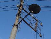 """أعمدة الكهرباء تهدد سكان الشرقية بالصعق والأهالى يغطونها بـ""""شكاير"""""""