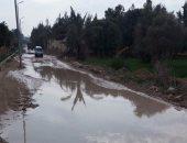 استغاثة من غرق المدخل الرئيسى لقرية الهوارية ببرج العرب بمياه الأمطار