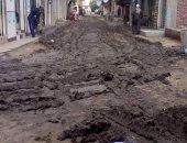 """بالصور.. فى قرية شنشور.. """"صلحوا ماسورة المياه.. الشارع ضرب"""""""