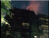 بالصور.. مدخنة تسبب فى نشوب حريق ببناية سكنية مطلة على كورنيش شبرا