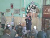 بالصور.. محافظ الوادى الجديد يؤكد أهمية التعاون بين كل الأجهزة فى مسجد الشرطة بالداخلة