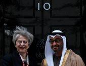"""ولى عهد أبو ظبى يلتقى """"تريزا ماى"""" لتعزيز العلاقات مع بريطانيا"""