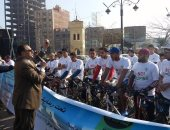 """مديرية الشباب بالغربية تنظم ماراثون سباق الدراجات تحت شعار """"لا للمنشطات"""""""
