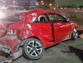 """قارئ يشارك """"صحافة المواطن"""" بصورًا لحادث سير على الطريق الدائرى"""
