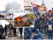 """""""الغاز لن يمر من أرضنا""""..اشتباكات بولاية داكوتا الأمريكية لرفض انشاء خط نفط"""