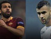 """مواجهة """"مصرية – جزائرية"""" تشعل مباراة روما وليون باليوروباليج"""