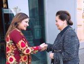 نادية عبده ترأس جلسة مؤتمر تمكين المرأة بالمعهد السويدى فى الإسكندرية