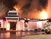 بالصور.. مسلحون يطلقون الرصاص ويشعلون النيران بمسجد فى فلوريدا الأمريكية