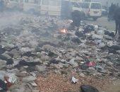 بالصور.. أهالى بشتيل يشتكون من تراكم القمامة وحرقها بشارع المدينة المنورة