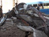 إصابة 4 أشخاص فى حادث تصادم 3 سيارات بكفر الشيخ