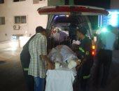 إصابة مواطن صدمته سيارة ميكروباص على كورنيش النيل فى كوتسيكا بحلوان