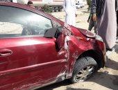 إصابة 5 أشخاص فى انقلاب سيارتين ببنى سويف
