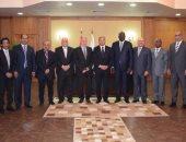 وزير الرياضة يستقبل رئيس الاتحاد الدولى والأفريقى لكرة اليد فى استاد القاهرة