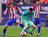 بالفيديو.. شوط مثير ينتهى بالتعادل السلبى بين برشلونة وأتلتيكو مدريد